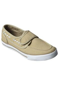 Big and Tall Kings' Court® Canvas Velcro® Deck Shoe