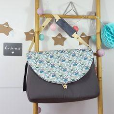 sac à langer lilaxel gris et liberty zoo - www.lepetitmondedelilaxel.com