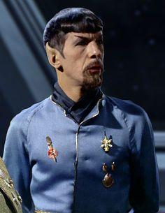 Leonard Nimoy as the Mirror Universe Spock Star Trek Spock, Star Trek Tos, Star Wars, Captain Spock, Mirror Universe, Star Trek 1966, Star Trek Images, Star Trek Characters, Star Trek Original Series