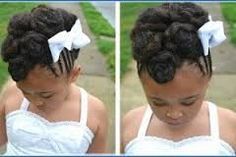 black flower girl wedding hairstyles - Google Search