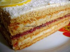 Sweets Recipes, Cake Recipes, Romanian Desserts, Food Cakes, Vanilla Cake, Caramel, Goodies, Food And Drink, Ice Cream