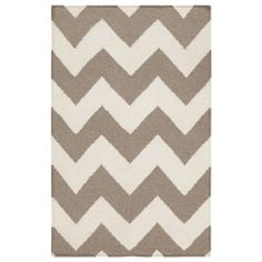 Surya Frontier Chevron Winter White/Taupe Hand Woven Rug