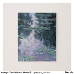 Vintage Claude Monet Waterlilies French Classic Jigsaw Puzzle Paintings Famous, Monet Paintings, Impressionist Paintings, Famous Artists, Wildlife Paintings, Nature Paintings, Landscape Paintings, Great Works Of Art, French Classic