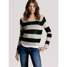 Long Sleeves Pullover Striped Sweater
