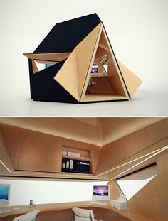 Tetra Shed. The modular, multi-use cabin comes flat packed and can be assembled in a number of different configurations, depending on your needs. You'll get a whopping 28 sq. ft. of storage