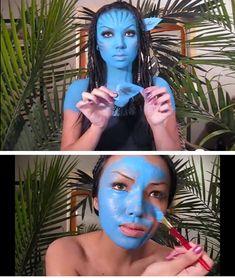 Neytiri Avatar Halloween Make upTutorial Diy Halloween Costumes For Women, Last Minute Halloween Costumes, Cool Costumes, Halloween Make Up, Halloween Ideas, Costume Ideas, Avatar Halloween, Maquillage Halloween, Costume Makeup