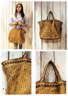 6af5bfa219c9 Handmade woven leather bag