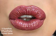 Dark pink and plum pretty LipSense! Lipsense Lip Colors, Gloss Lipsense, Lip Gloss, Long Lasting Lip Color, Beautiful Lips, Stunning Eyes, Up Girl, Glam Girl, Pink Lips