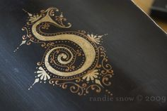 "Hand Lettered ""S"" by Ronnie Snow"