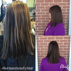 Hair transformation by Kayla Norman at Paul Mitchell the school in Tulsa OK.