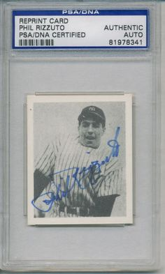 PHIL-RIZZUTO-SIGNED-AUTOGRAPHED-PSA-DNA-AUTO-YANKEES #philrizzuto #rizzuto #signedcard #autograph #yankees
