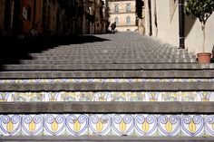 The beautiful majolicated stair of Caltagirone