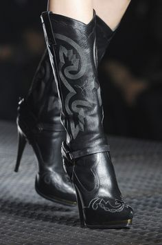 Lanvin Spring 2013. Always wanted a high heel platform cowboy boot