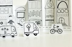 Made by Joel Paper City Vehicles 2 - How much fun would kids have adding LED lights to this cars and city. Plus a great way to talk about building and how cars work Paper Car, Paper Toys, Diy Crafts For Kids, Fun Crafts, Paper Crafts, Elementary Art Rooms, Transportation Theme, Stop Motion, Art Lessons