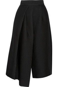 Tibi Pleated jacquard culottes | NET-A-PORTER