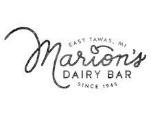 Marion's Dairy Bar logo / Kristen Marie (via dribbble)