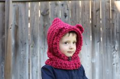A personal favorite from my Etsy shop https://www.etsy.com/ca/listing/251075169/hooded-scarfhooded-cowlbear-hooded