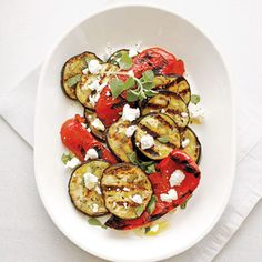 Grilled Red Pepper and Eggplant