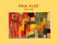 PAUL KLEE for kids CLIL ppt