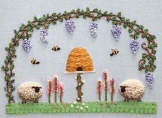 sheep embroidery pattern
