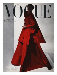 Vogue Cover - November 1946 by Horst P. Horst. Giclee print from Art.com.