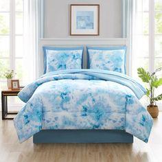 Ocean Bedding, Blue Comforter, Comforter Sets, Tie Dye Bedroom, Tie Dye Bedding, 3d Bedding, Tie Dye Sheets, Bedroom Decor For Teen Girls, Bedroom Ideas