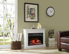 Electric Fireplace Mantels Living Room Decor Fully Assembled Chesapeake New Electric Fireplace Reviews, Best Electric Fireplace, New Living Room, Living Room Furniture, Living Room Decor, Fireplace Hearth, Stove Fireplace, Fireplaces, Kitchen Queen