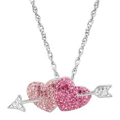 EBAY:  Was $179, NOW $29.99 + Ships FREE!  Crystaluxe Double Heart & Arrow Pendant Swarovski Crystals in Sterling Silver  SAVE $149 (83%!): http://ebay.to/2FFADwD  #ad