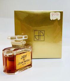 NOS NIB Sealed Vintage Joy Jean Patou Pure Perfume Ref 1104 / 1/2 oz , Vintage Perfume, Joy Perfume Bottle, Vintage French Perfume