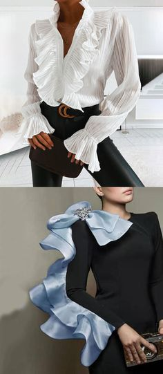 Casual Outfits, Fashion Outfits, Womens Fashion, Reign Fashion, Black And White Shoes, Shirt Bluse, Dresses For Less, Elegant Outfit, Shirt Style