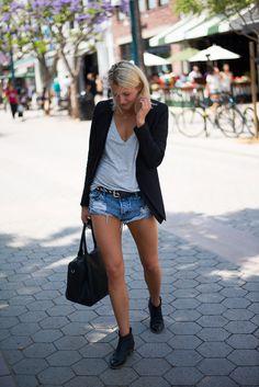 Denim shorts. Style inspiration. #shorts #style #denim