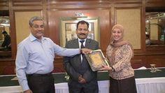 Dr. Khalisa Abdullah Salman receiving certificate of Fellowship in minimal access Surgery at World Laparoscopy Hospital. For more detail please log on to www.laparoscopyhospital.com