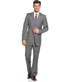 Tommy Hilfiger Suit Grey Check Slim Fit