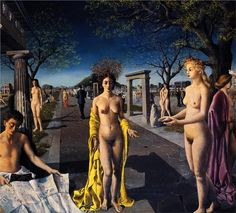 Paul Delvaux (Belgian 1897–1994)   [Surrealism] The Entrance to the City, 1940.