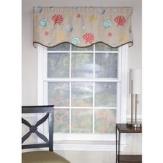 Buy RL Fisher Oceanic Provance Window Valance in Taupe from Bed Bath & Beyond