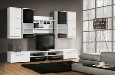 Living Room Inspiration, Flat Screen, Entryway, Black And White, Furniture, Home Decor, Lounges, Luxury, Blood Plasma