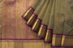 Kanjivaram silk saree in purple