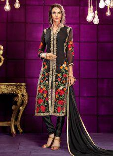 ed94cf3b14 Latest Pakistani Indian Straight Cut Salwar Kameez 2018-19 Designs ...