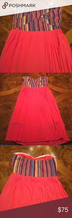 🌺Pink strapless Sabine dress NWOT Never worn. New without tags. Gorgeous strapless knee-length dress. sabine Dresses Strapless