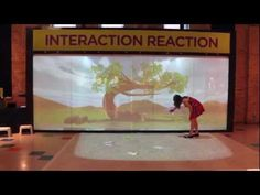 Clever dual screen wall/floor interactive
