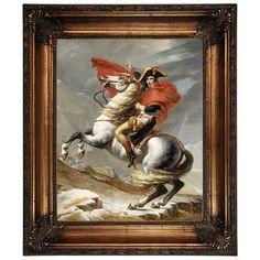 Astoria Grand 'Napoleon Bonaparte Crossing the Grand Saint-Bernard Pass; 20 May 1800' Framed Oil Painting Print on Canvas Size: