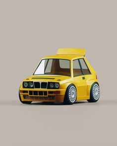 Low Poly Car, Subaru, Car Illustration, 3d Illustrations, Lancia Delta, Mini Cooper, Bmw E30, Character Design Animation, Mechanical Design