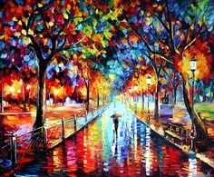 Happy Stroll Painting by Daniel Wall
