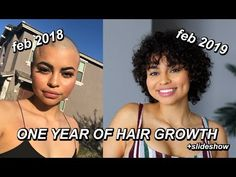ONE YEAR OF HAIR GROWTH! (SHAVED HEAD TIME LAPSE)