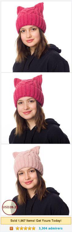 Pink Pussycat hat lined with fleece, Cat beanie, Cat ears hat, Cat hats for women, Womens march hat, Pussyhat, Pussy cat hat, Pussy hat https://www.etsy.com/HatsCats/listing/554139154/pink-pussycat-hat-lined-with-fleece-cat?ref=shop_home_active_8