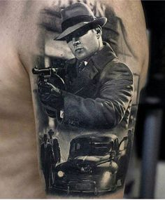 Tattoo picture result of the mafia - Tattoo Ideas Gangster Tattoos, Chicano Tattoos, Badass Tattoos, Body Art Tattoos, Tattoos For Guys, Tatoos, Portrait Tattoos, Payasa Tattoo, Tattoo Mafia