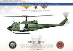 "UNITED STATES MARINE CORPS HMLA/T-303 ""Atlas"" - MAG-39 MCAS Camp Pendleton UH-1N ""Huey"" final flight. March 18, 2011"