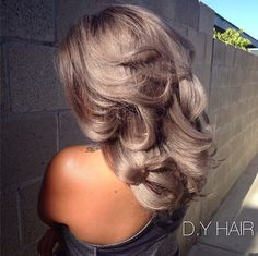 Gorgeous work by stylist Randy Sisengchanh using our Kenra Color® Silver Metallic shades 7SM and 8SM!