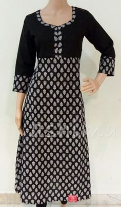 Code:1611162 - Printed Cotton Flared Kurti, Price INR:1090/-