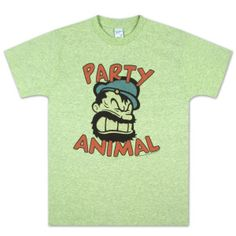 Popeye Bluto Party Animal T-shirt